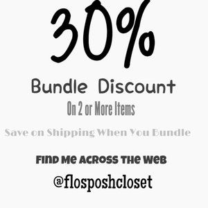 Discount on All Items When you Bundle 2 or More